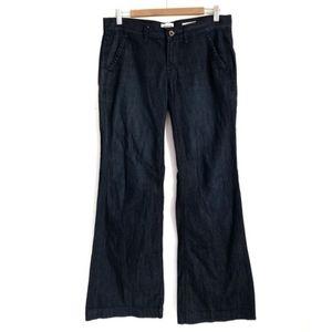 Madewell 29 Wide Leg Dark Wash Boho Jeans